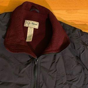 Vintage L.L Bean Classic warmup navy jacket sz L